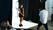 Behind the Scenes of Kina at the Mobile Mix Photo Shoot